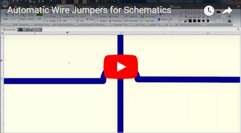 Automatic Wire Jumpers for Schematics
