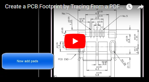Create a PCB Footprint by Tracing From a PDF (with captions)