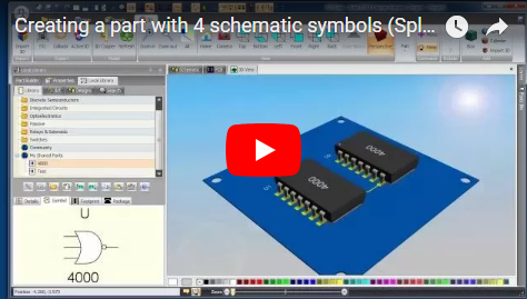 Creating a part with 4 schematic symbols (Split part)