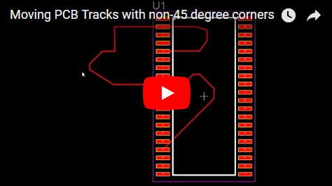 Moving PCB Tracks with non-45 degree corners