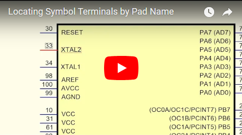 Locating Symbol Terminals by Pad Name