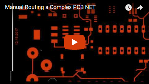 Manual Routing a Complex PCB NET