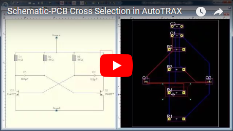 Schematic-PCB Cross Selection in DEX-PCB