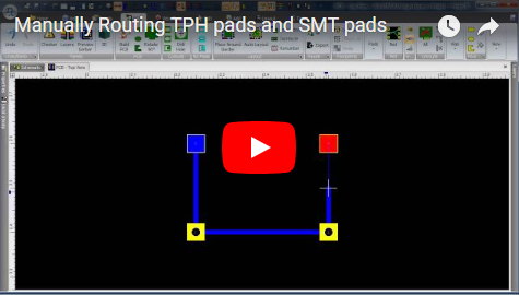 Manually Routing TPH pads and SMT pads