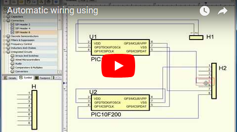 Automatic wiring using DEX-PCB.
