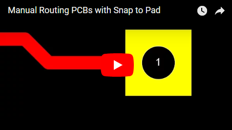Manual Routing PCBs with Snap to Pad