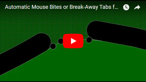 Automatic Mouse Bites or Break-Away Tabs for PCBs