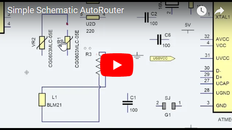 Simple Schematic AutoRouter