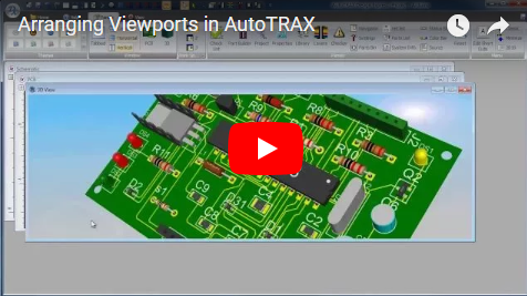 Arranging Viewports in DEX-PCB