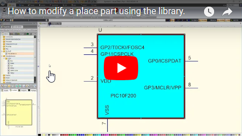 How to modify a placed part using the library