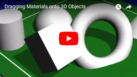 Dragging Materials onto 3D Objects