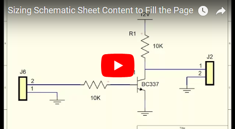 Sizing Schematic Sheet Content to Fill the Page