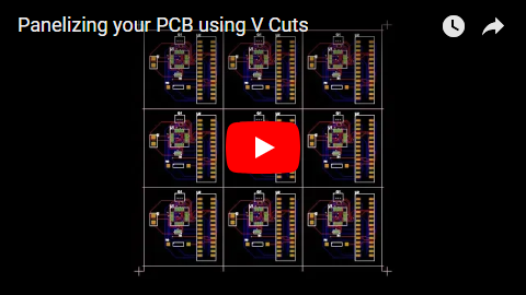 Panelizing your PCB using V Cuts