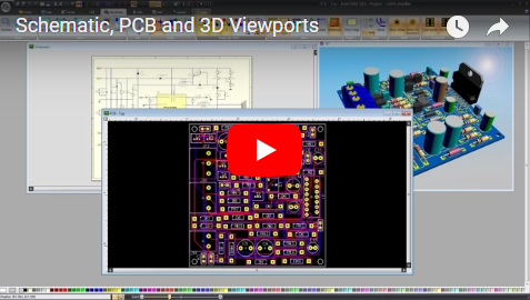 Schematic, PCB and 3D Viewports