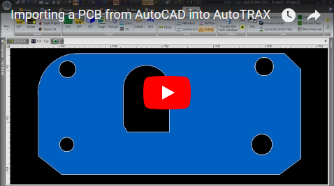 Importing a PCB from AutoCAD into DEX-PCB