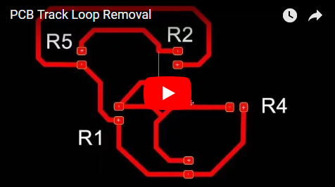 PCB Track Loop Removal