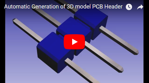 Automatic Generation of 3D model PCB Header