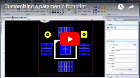 Customizing a parametric footprint