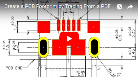 Create a PCB Footprint by Tracing From a PDF