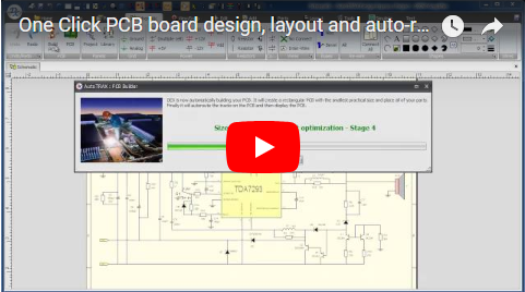 One Click PCB board design, layout and auto-routing