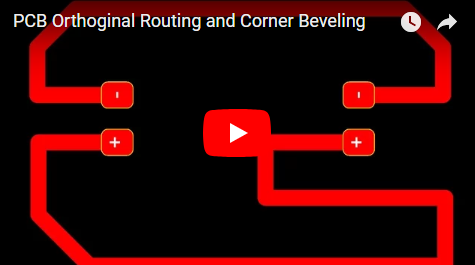 PCB Orthoginal Routing and Corner Beveling