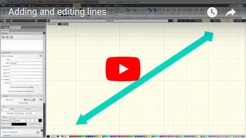 Adding and editing lines
