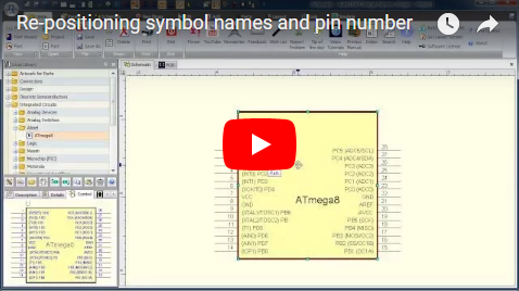 Re-positioning symbol names and pin number
